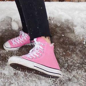 Bright Pink Converse